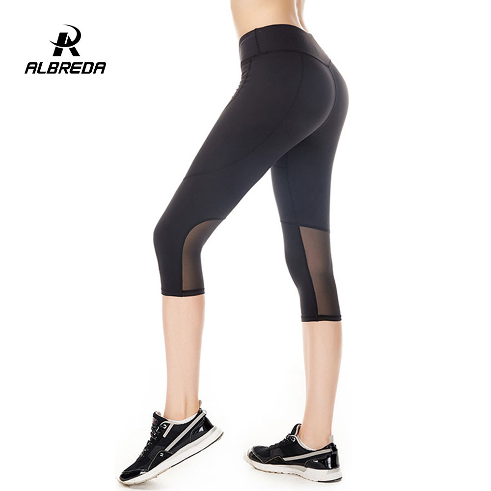 eddc4be134bdd5 ALBREDA summer Yoga Pants Women Fitness Sports Leggings Sport ...