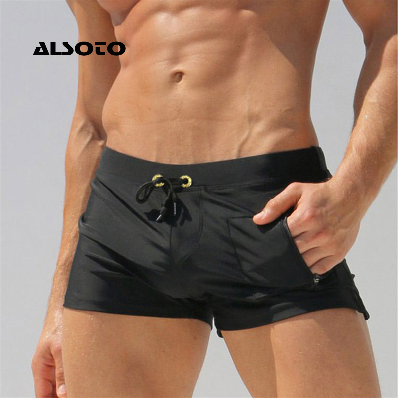 022ed54190b ALSOTO Sexy Man Swimwear Men's Swimsuits Swimming Trunks Sunga Hot Mens Swim  Briefs Beach Shorts ...
