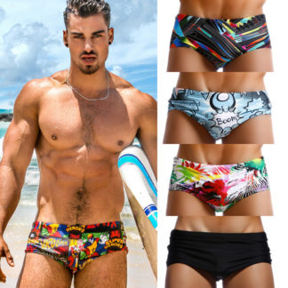 b190f36bc9ba1 Taddlee Brand Pack of 4 Swimwear Men Swimsuits Swim Boxer Briefs Bikini Gay  Penis Pouch Low Rise Swimming Surf Board Shorts New